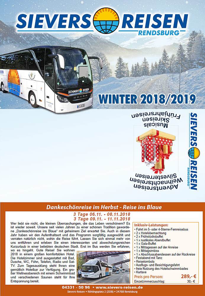 Winter 18/19 Sievers-Reisen