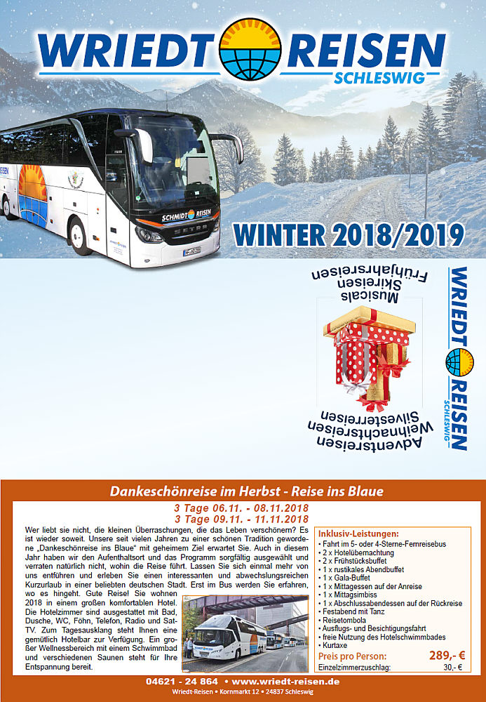 Winter 18/19 Wriedt-Reisen